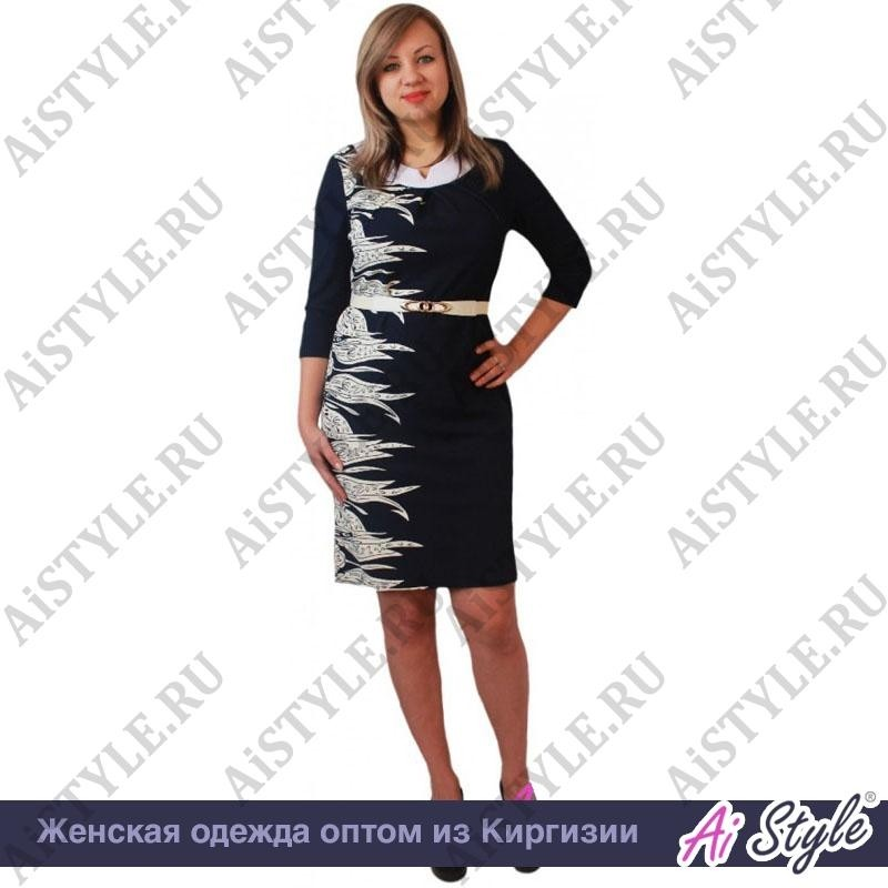 e070704ac134c46 Синее платье большого размера с белым принтом купить оптом в Киргизии