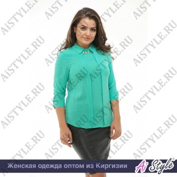 Мятная блуза «Софико»