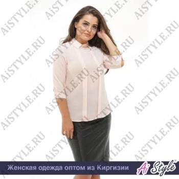 Нежно-розовая блуза «Софико»