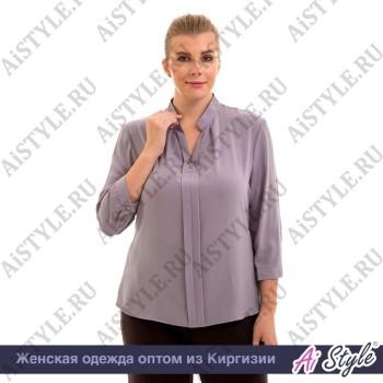 Серо-сиреневая блуза «Melange»